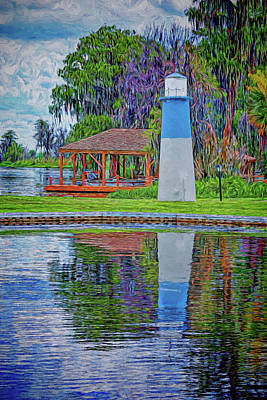 Art Print featuring the photograph Little Lake Lightouse by Lewis Mann