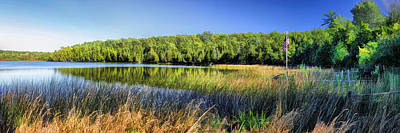 State Natural Area Painting - Little Lake On Washington Island Panorama Door County by Christopher Arndt