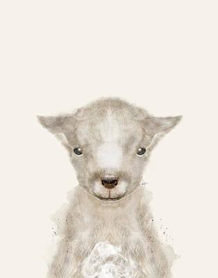 Painting - Little Lamb by Bri B