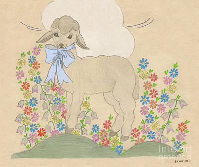 Little Lamb Lightened Art Print