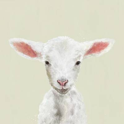Digital Art - Little Lamb by Mandy Tabatt