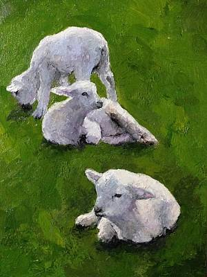 Painting - Little Lambs by Sylvia Miller