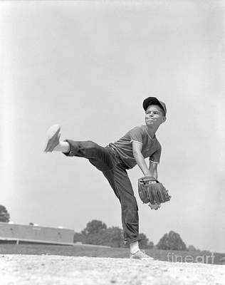 Little League Pitcher, C.1960s Art Print by H. Armstrong Roberts/ClassicStock