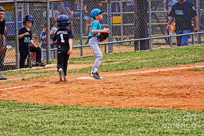 Little Leige Baseball Original by Linda Phelps