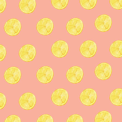 Yellow Digital Art - Little Lemons by Allyson Johnson