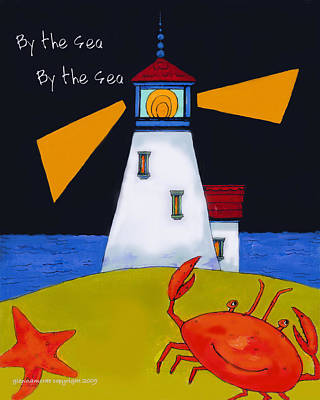 Little Lighthouse By The Sea Art Print by Glenna McRae