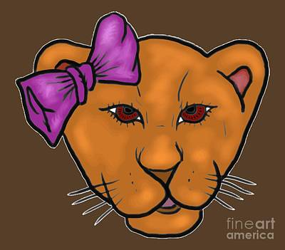 Digital Art - Little Lioness by Robert Watson