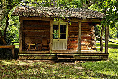 Natchitoches Photograph - Little Log Cabin by Judy Vincent