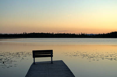 Photograph - Little Lost Lake - Midnight Sun - Solstice by Cathy Mahnke
