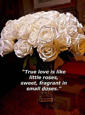 Little Love Roses Art Print