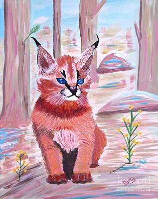 Painting - Little Lynx by Phyllis Kaltenbach