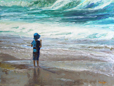 Painting - Little Man, Big Waves by Darla Nyren