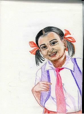 Little Manju Art Print by Asha Sudhaker Shenoy