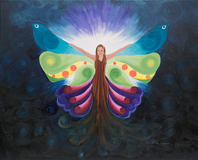 Chakra Painting - Little Mariposa by Darlene Weaver