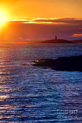 Photograph - Little Mark Island At Sunset by Olivier Le Queinec