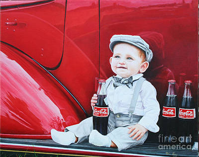 Art Print featuring the painting Little Mason by Mike Ivey