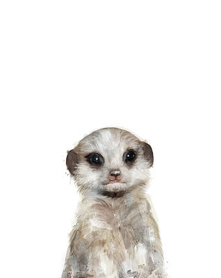 Meerkat Painting - Little Meerkat by Amy Hamilton