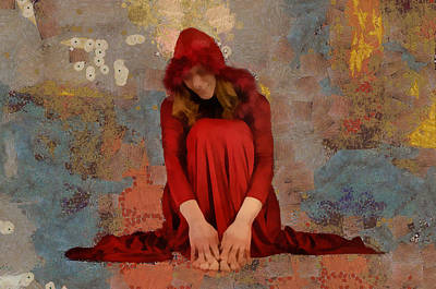 Mixed Media - Little Mel Riding Hood by Trish Tritz