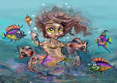 Mermaid Digital Art - Little Mermaid by Kevin Middleton