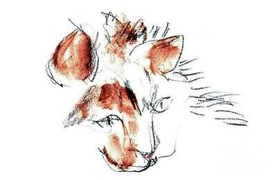 Mixed Media - Little Merph - Cats by Carolyn Weltman