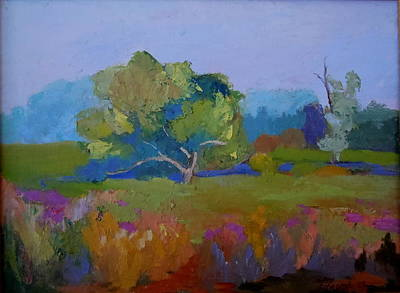 Meadow Willows Painting - Little Miami Meadow by Francine Frank