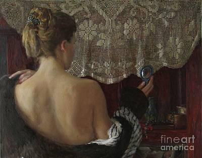 Little Mirror Art Print by Korobkin Anatoly