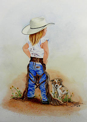 Little Miss Big Britches Art Print
