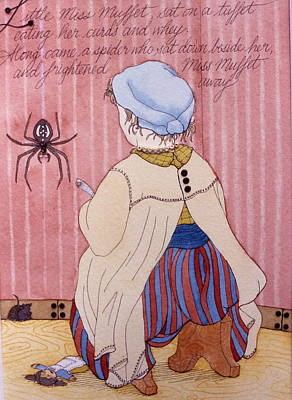 Little Miss Muffet Print by Victoria Heryet