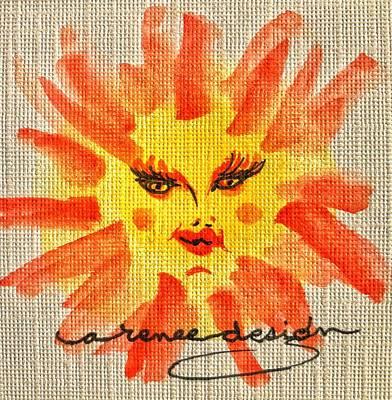 Mixed Media - Little Miss Sunshine by Renee Marie Martinez
