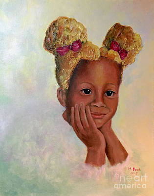 Painting - Little Miss Sunshine-women Of Color Series by Marlene Book