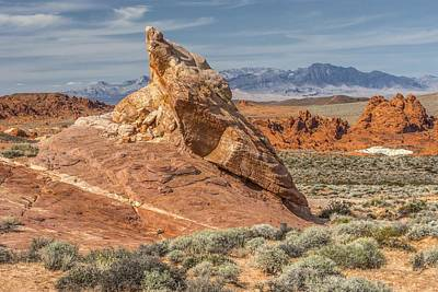 Little Monument In Valley Of Fire Art Print