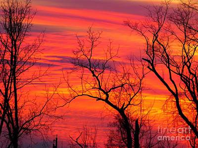 Art Print featuring the photograph Little More Color At Sunset by Donald C Morgan