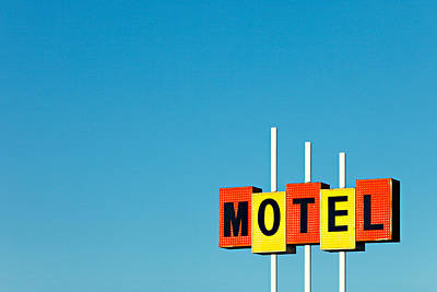 Little Motel Sign Art Print by Todd Klassy