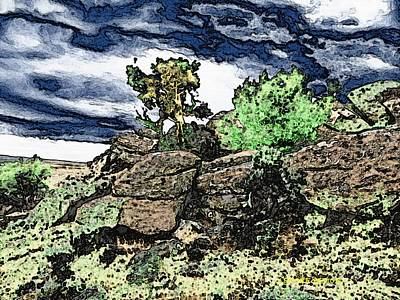Emotion Mixed Media - Little Mountain by Lenore Senior and Dawn Senior-Trask