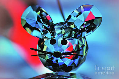 Photograph - Little Mouse - Lead Crystal by Kaye Menner