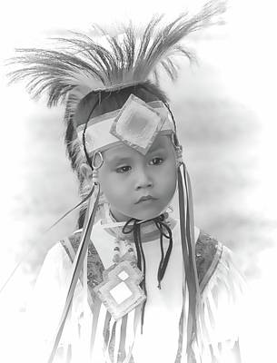 Photograph - Little Native American Dancer by Dyle Warren