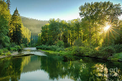 Photograph - Little North Fork Sun by Idaho Scenic Images Linda Lantzy