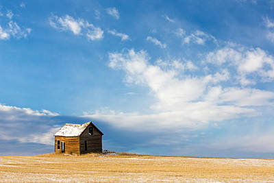 Snow-covered Landscape Photograph - Little Old House by Todd Klassy