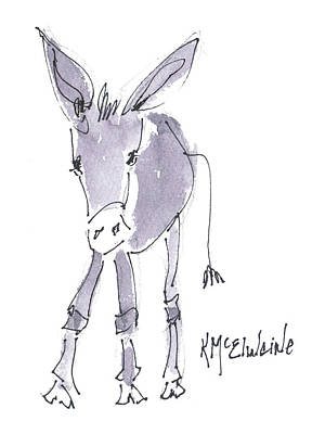 Painting - Little One Burro by Kathleen McElwaine