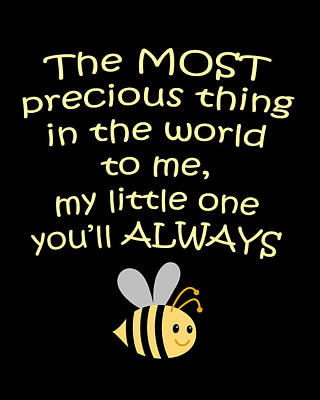 Little One You'll Always Bee Print Art Print by Inspired Arts