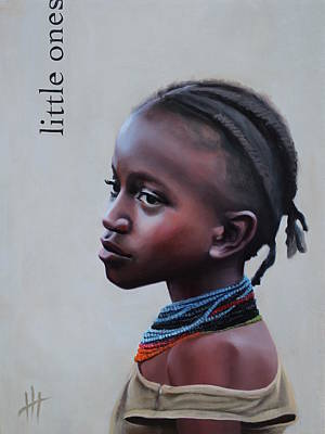 African Child Painting - Little Ones by Hannah Harris