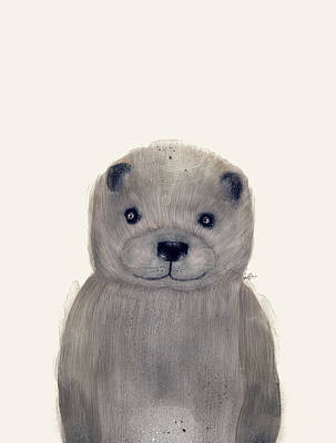 Otter Painting - Little Otter by Bleu Bri