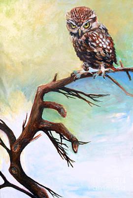 Wall Art - Painting - Little Owl by E Bradshaw