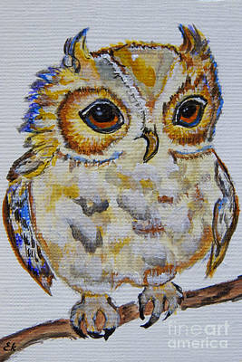 Painting - Little Owl  by Ella Kaye Dickey