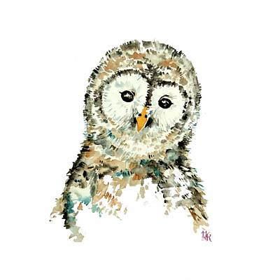 Painting - Little Owl Nursery Wall Art by Heidi Kriel