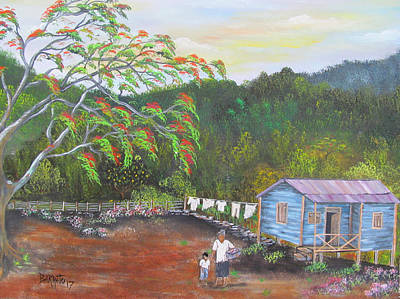 Painting - Little Paradise by Gloria E Barreto-Rodriguez