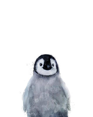 Animal Mixed Media - Little Penguin by Amy Hamilton