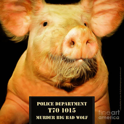 Photograph - Little Pig Number Two Mugshot 20170921 Square by Wingsdomain Art and Photography