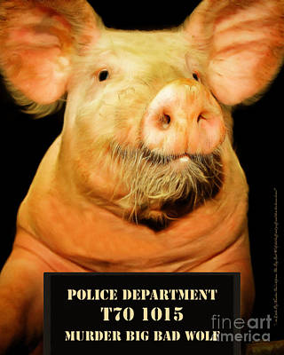 Photograph - Little Pig Number Two Mugshot 20170921 by Wingsdomain Art and Photography