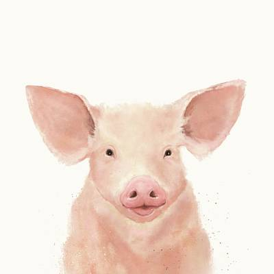 Digital Art - Little Piglet by Mandy Tabatt